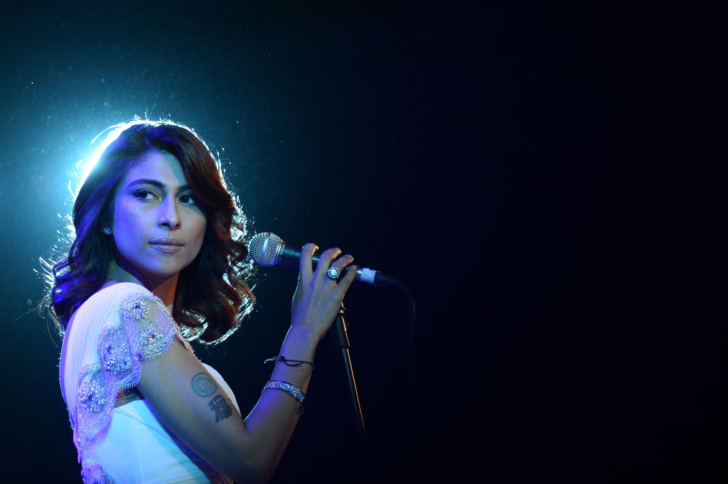 Actress and singer  Meesha Shafi  performs at the opening night ceremony and gala screening of  The Reluctant Fundamentalist  at Al Mirqab Hotel in Doha, Qatar on Nov. 17, 2012.