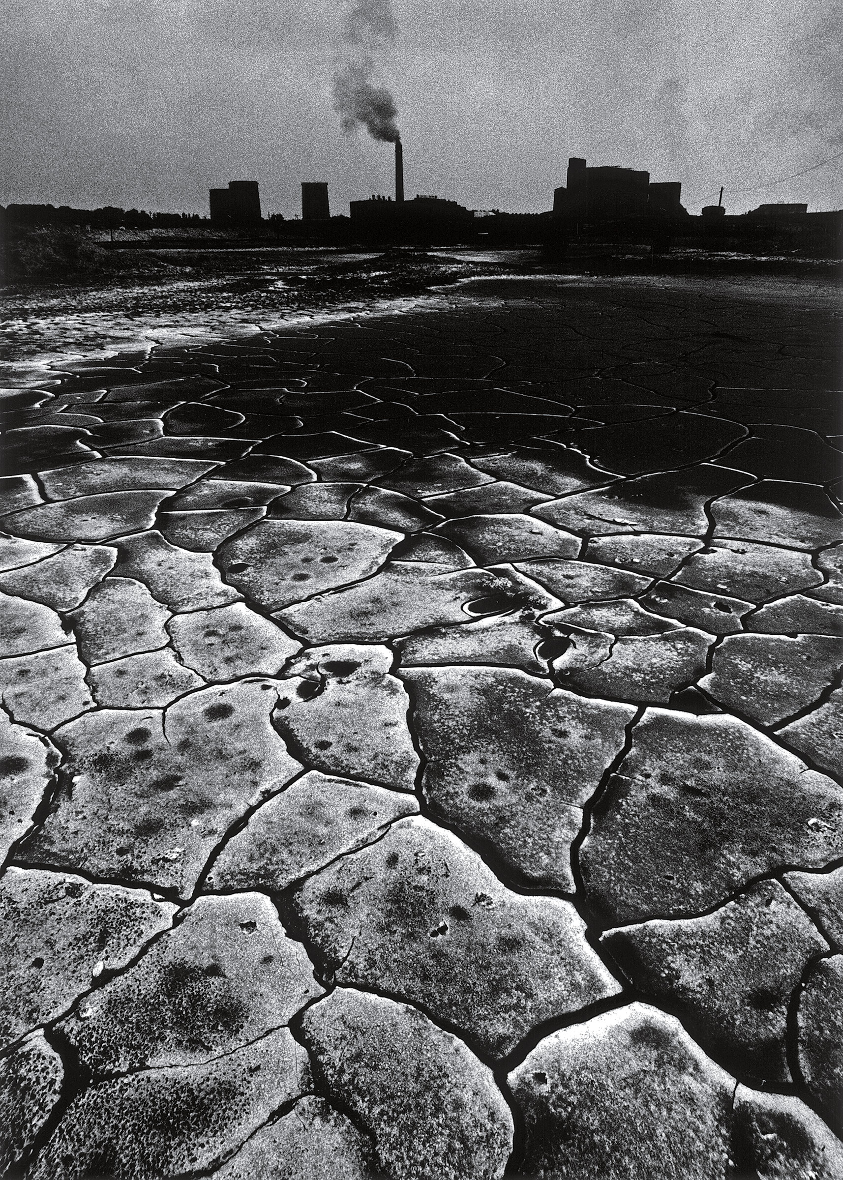 The landscape surrounding a coal mine in the Polish region of Silesia in 1978.