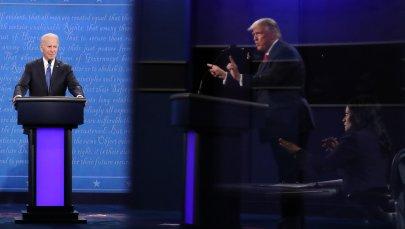 President Donald Trump and Democratic presidential nominee Joe Biden participate in the final presidential debate in Nashville, Tenn., on Oct. 22.