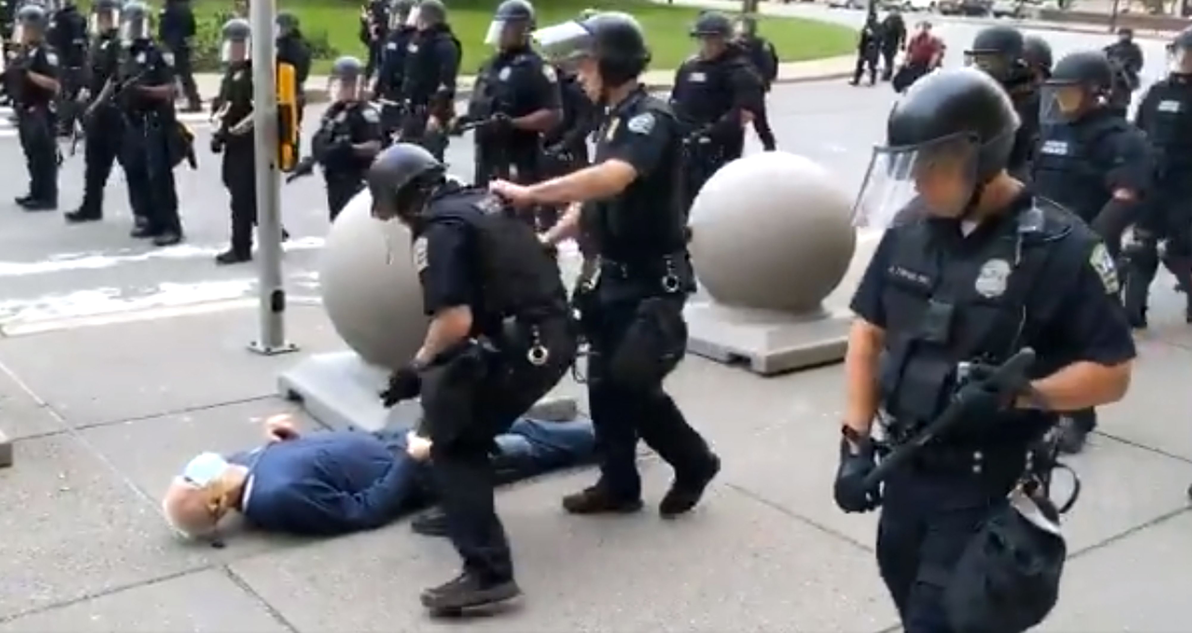 Martin Gugino was shoved by police officers in Buffalo, N.Y., on June 4.