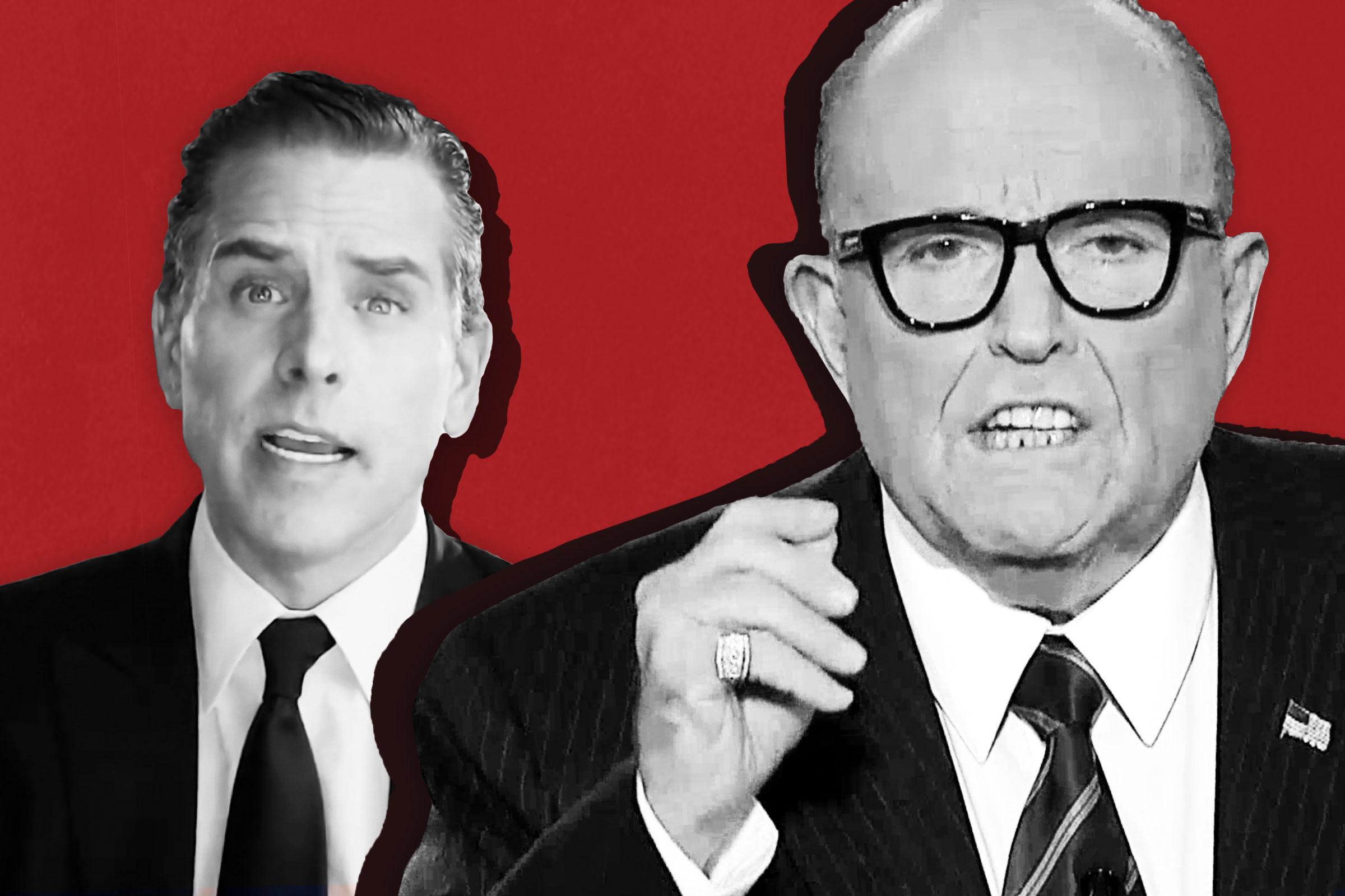 Hunter Biden, son of Democratic presidential nominee Joe Biden; Personal attorney to President Donald Trump and former New York City Mayor Rudy Giuliani