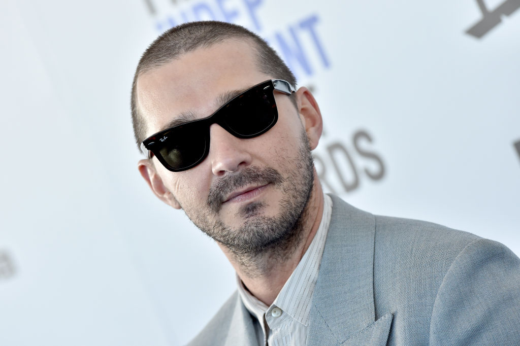Shia LaBeouf attends the 2020 Film Independent Spirit Awards in Santa Monica, California on Feb. 8, 2020.