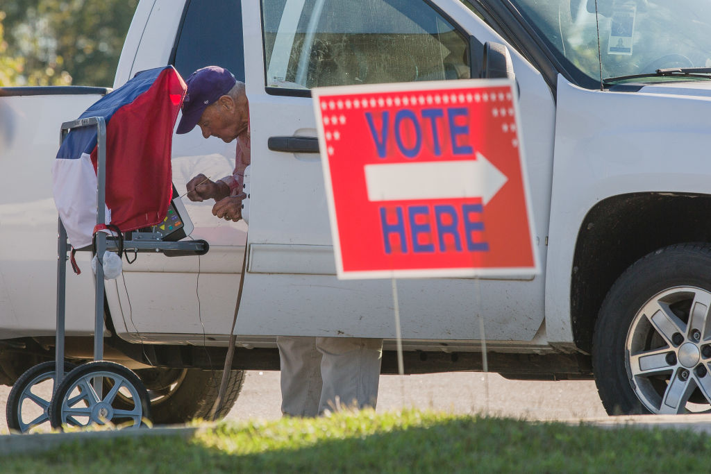 Alabama has not allowed curbside this election cycle. The service, which a voter used in Sumter, S.C., on  Oct. 14, can be particularly crucial for the elderly and people with disabilities or pre-existing conditions.