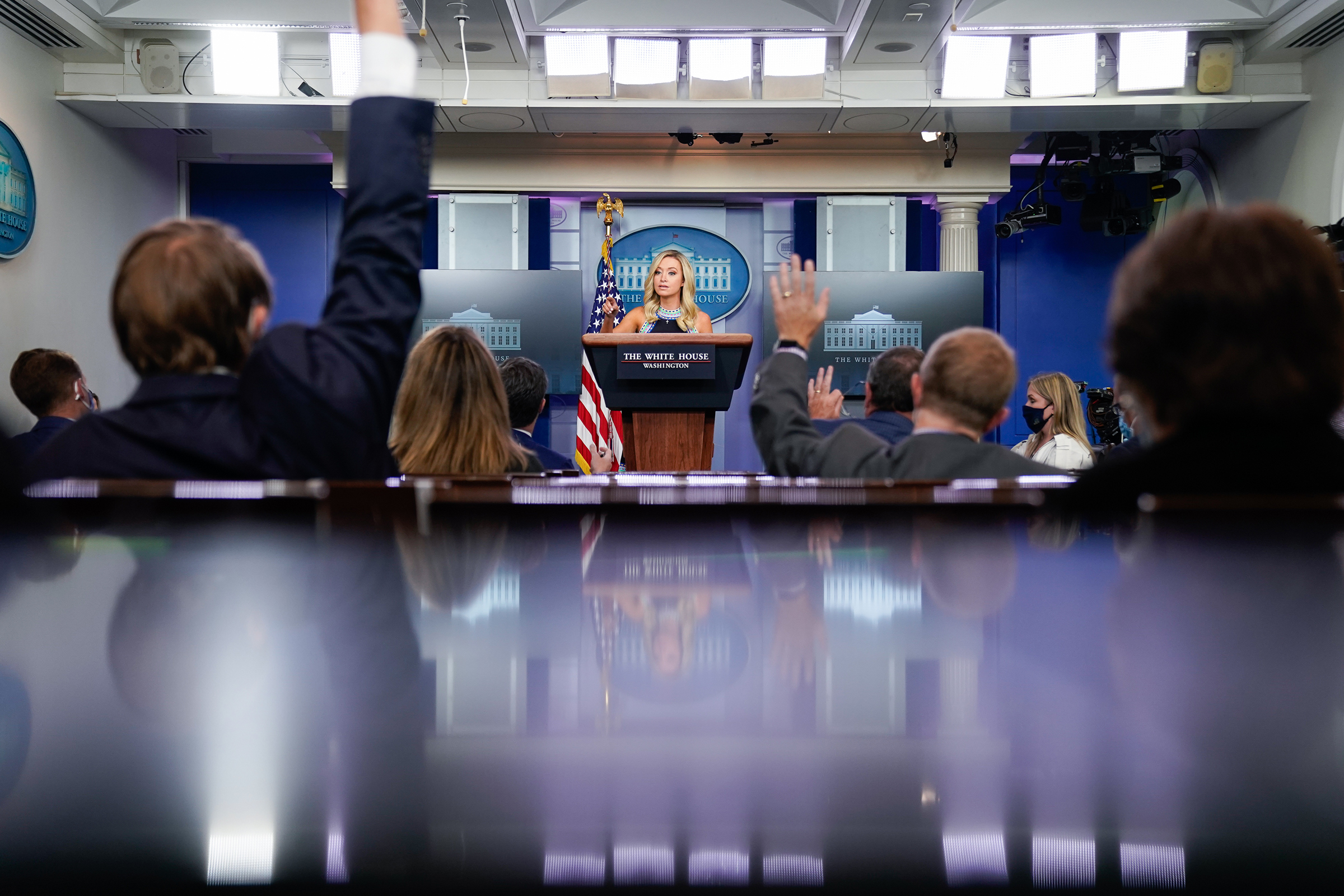 White House press secretary Kayleigh McEnany speaks to reporters on Sept. 24