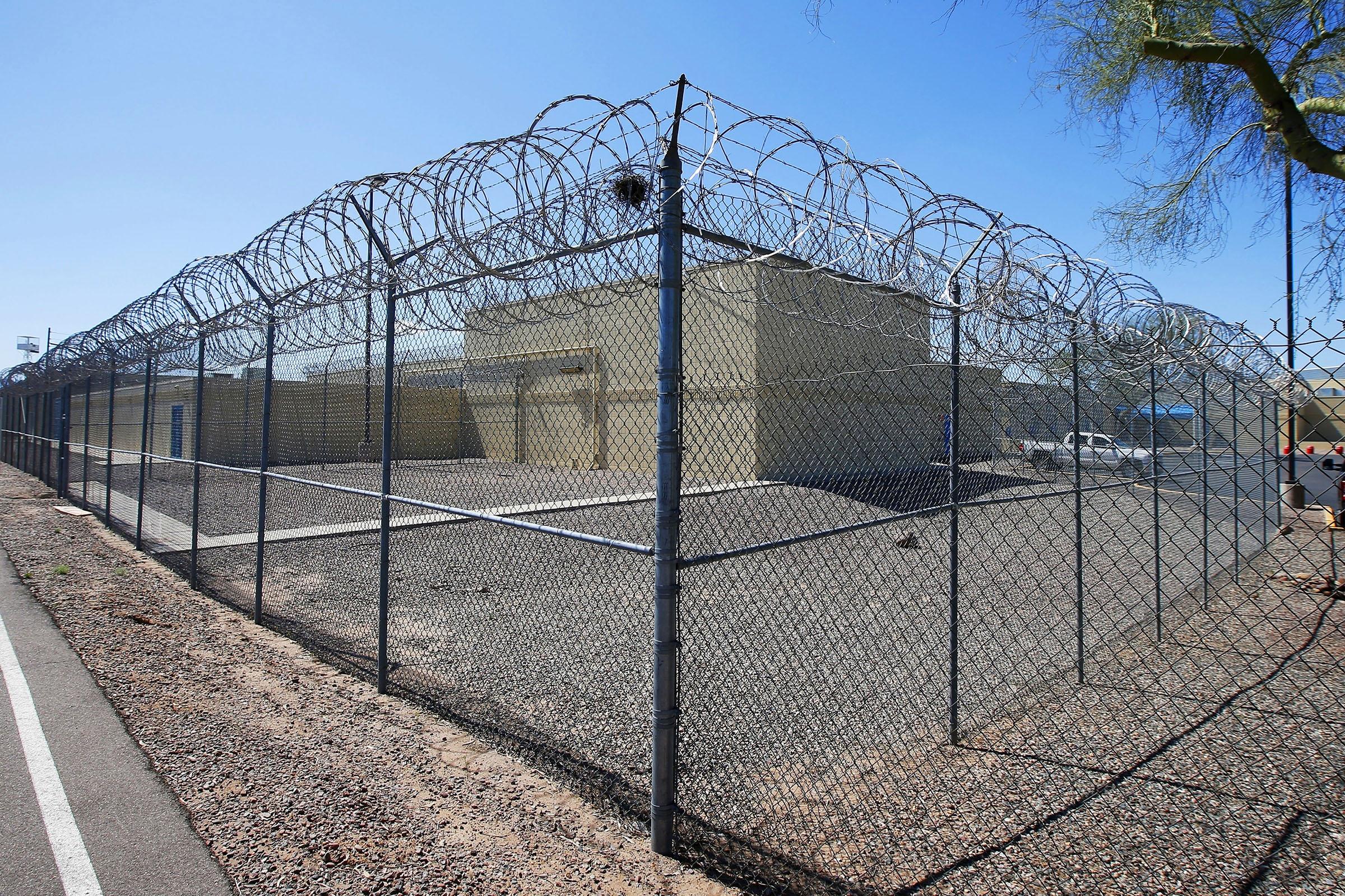 The Maricopa County Estrella Jail in Phoenix, AZ on March 21, 2020.