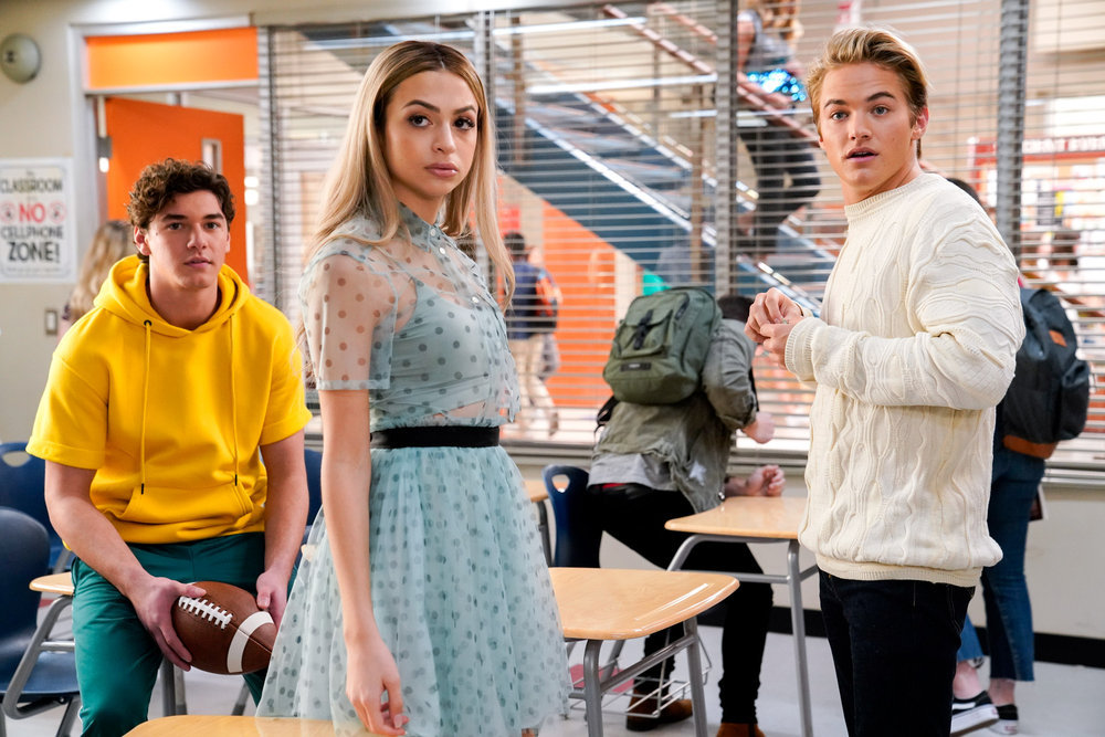A still from Peacock's reboot of 'Saved by the Bell,' which features several original cast members