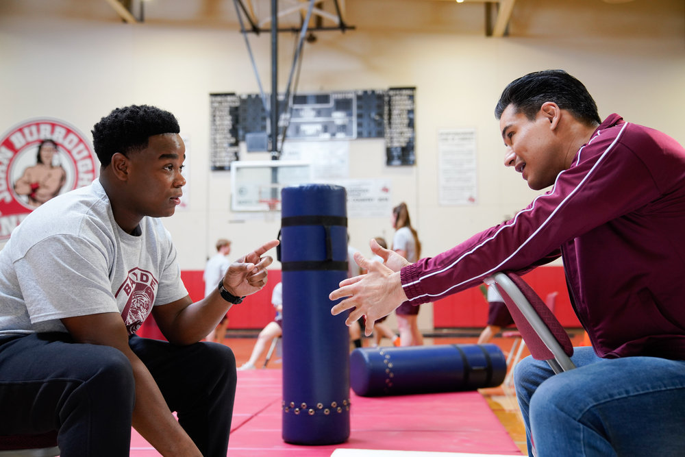 Dexter Darden (left) and Mario Lopez in 'Saved by the Bell'