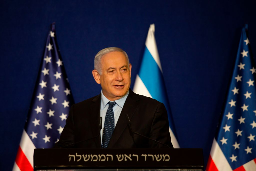 Israeli Prime Minister Benjamin Netanyahu speaks in Jerusalem on November 19, 2020.