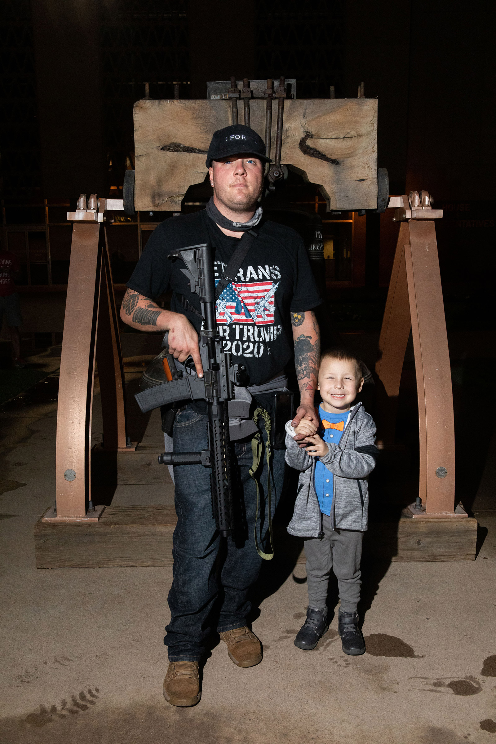 Aiden and his son at the Arizona State Capitol in Phoenix, AZ on November 4, 2020