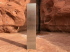 A metal monolith discovered in Utah's red rock country on Nov. 18, 2020.