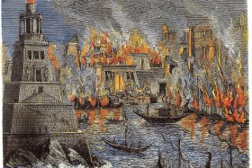 The Burning of the Library of Alexandria, 1876