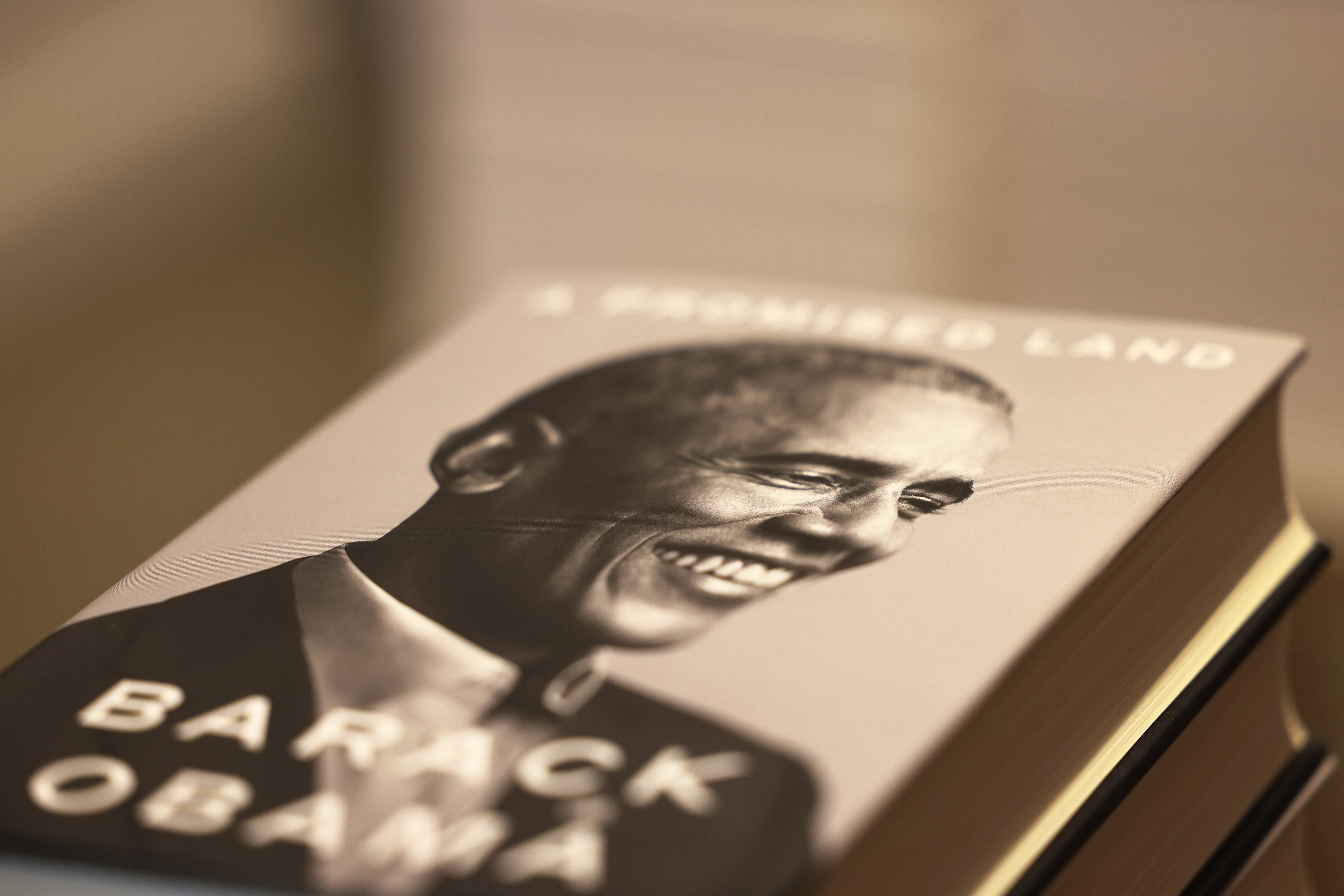 New York City - Nov. 17: Former President Barack Obama's new memoir is seen on display at the Greenlight Bookstore in Brooklyn. (Photo by Michael M. Santiago/Getty Images)