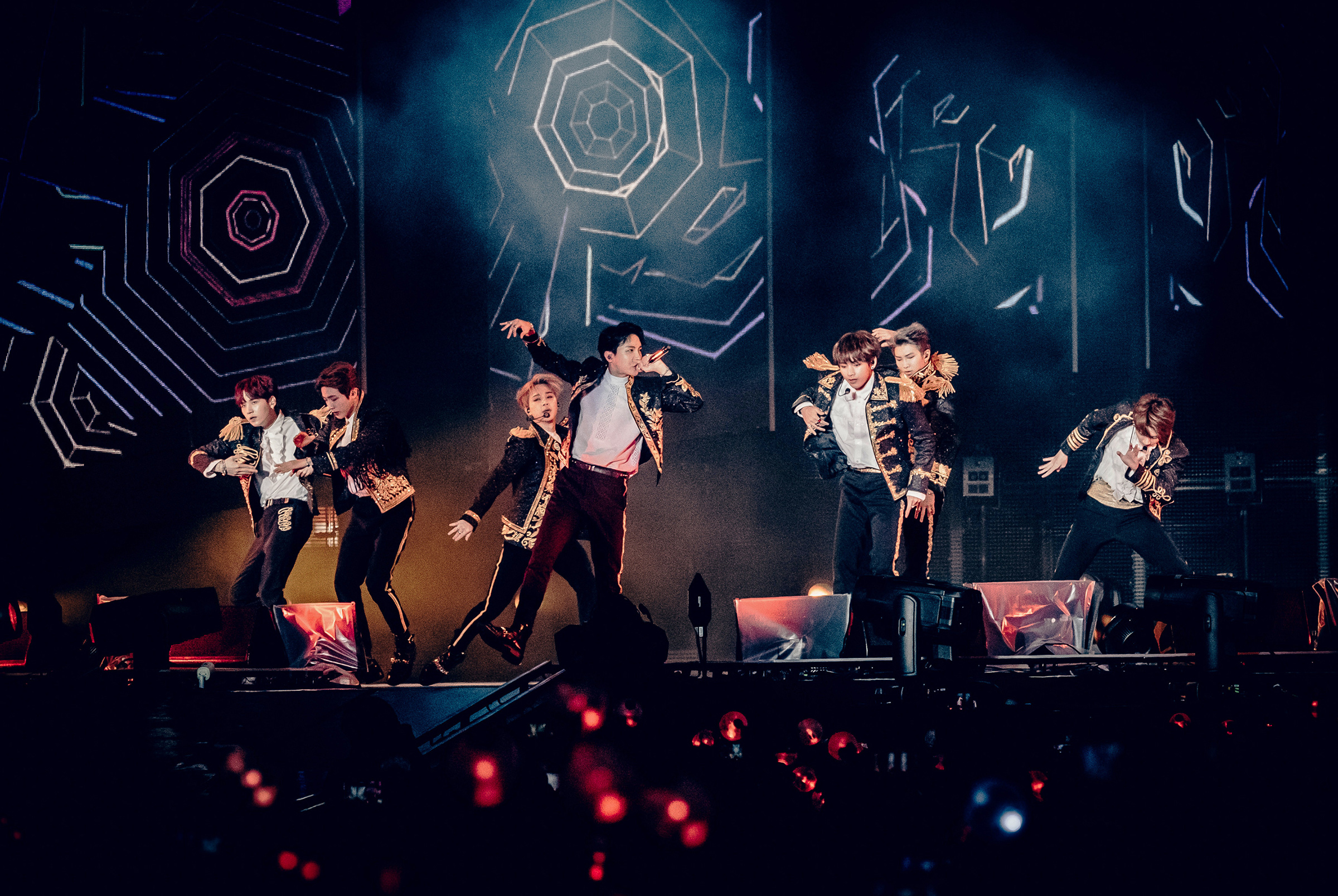 BTS performs at Citi Field in New York, Oct. 6, 2018
