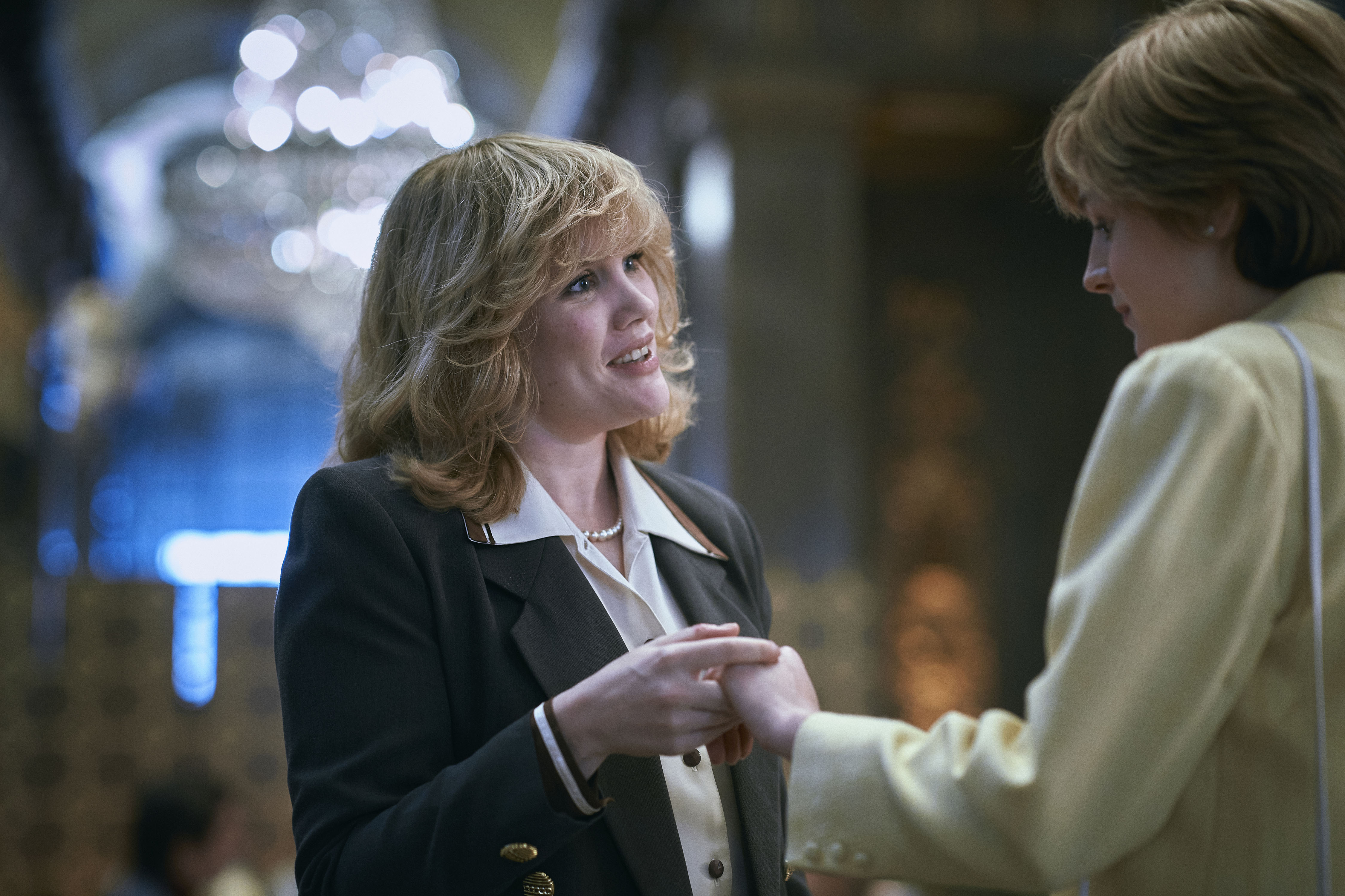 Emerald Fennell as Camilla Parker Bowles and Emma Corrin as Princess Diana in The Crown