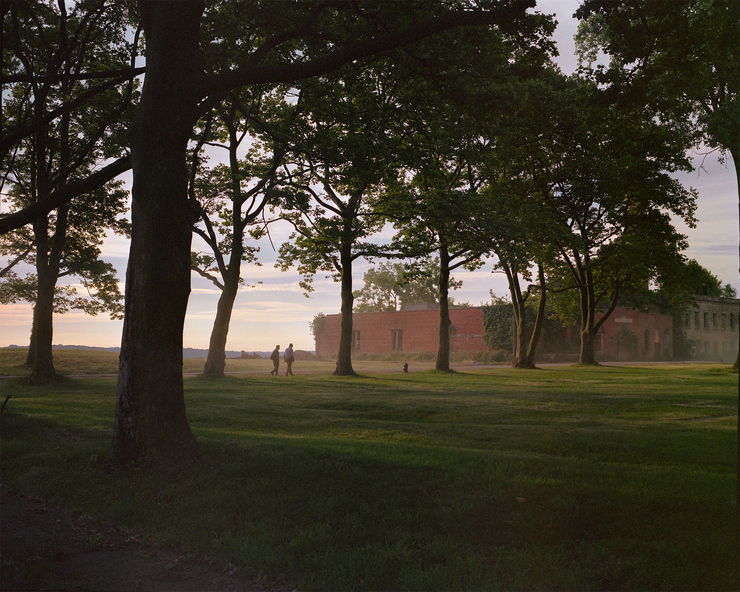 Mist gathers on the eastern shore of Hart Island, the city's  potters field,  on June 26, 2020.