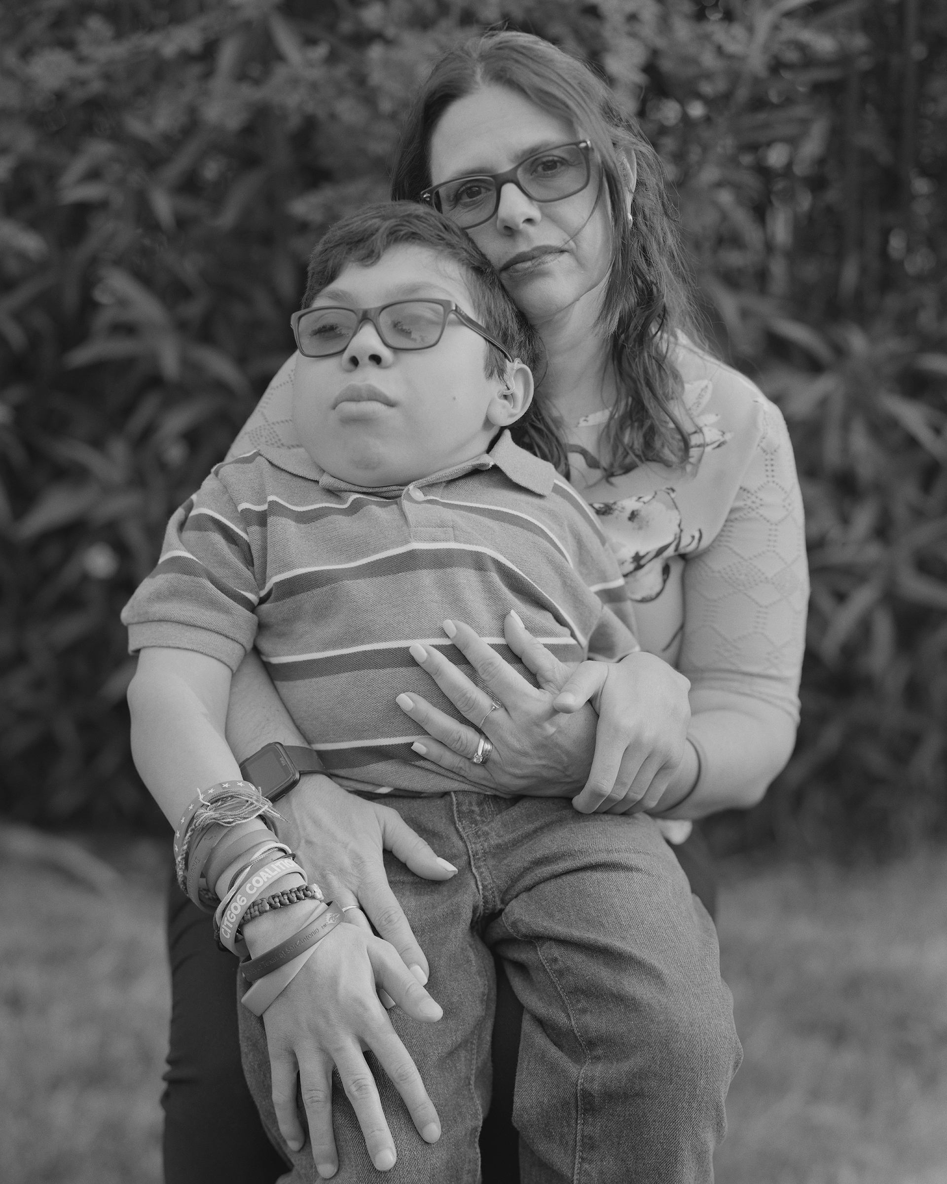 Maria Elena Cardenas and her son Sergio in October 2019.  Hostages to the Pandemic,  April 6 issue.
