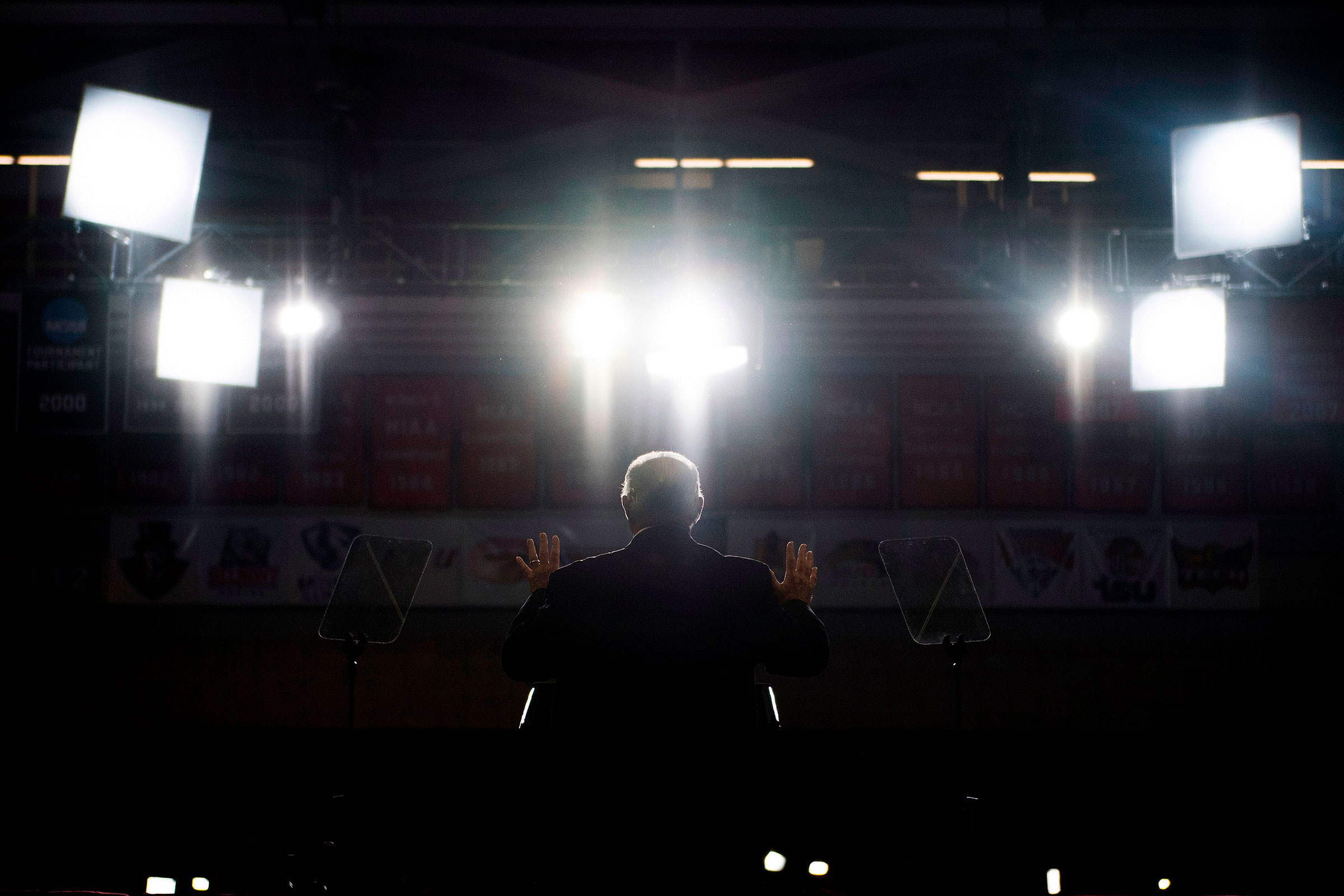 Limbaugh speaks at a Make America Great Again rally in Cape Girardeau, Mo. on Nov. 5, 2018.
