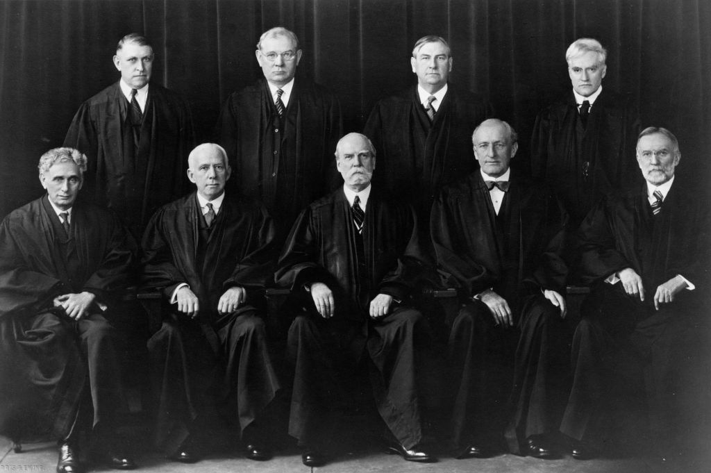 The members of the Supreme Court in 1937