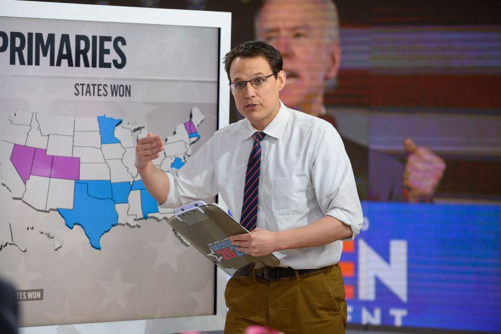 MSNBC-NBC National Political Correspondent Steve Kornacki pictured on Wednesday, March 4, 2020