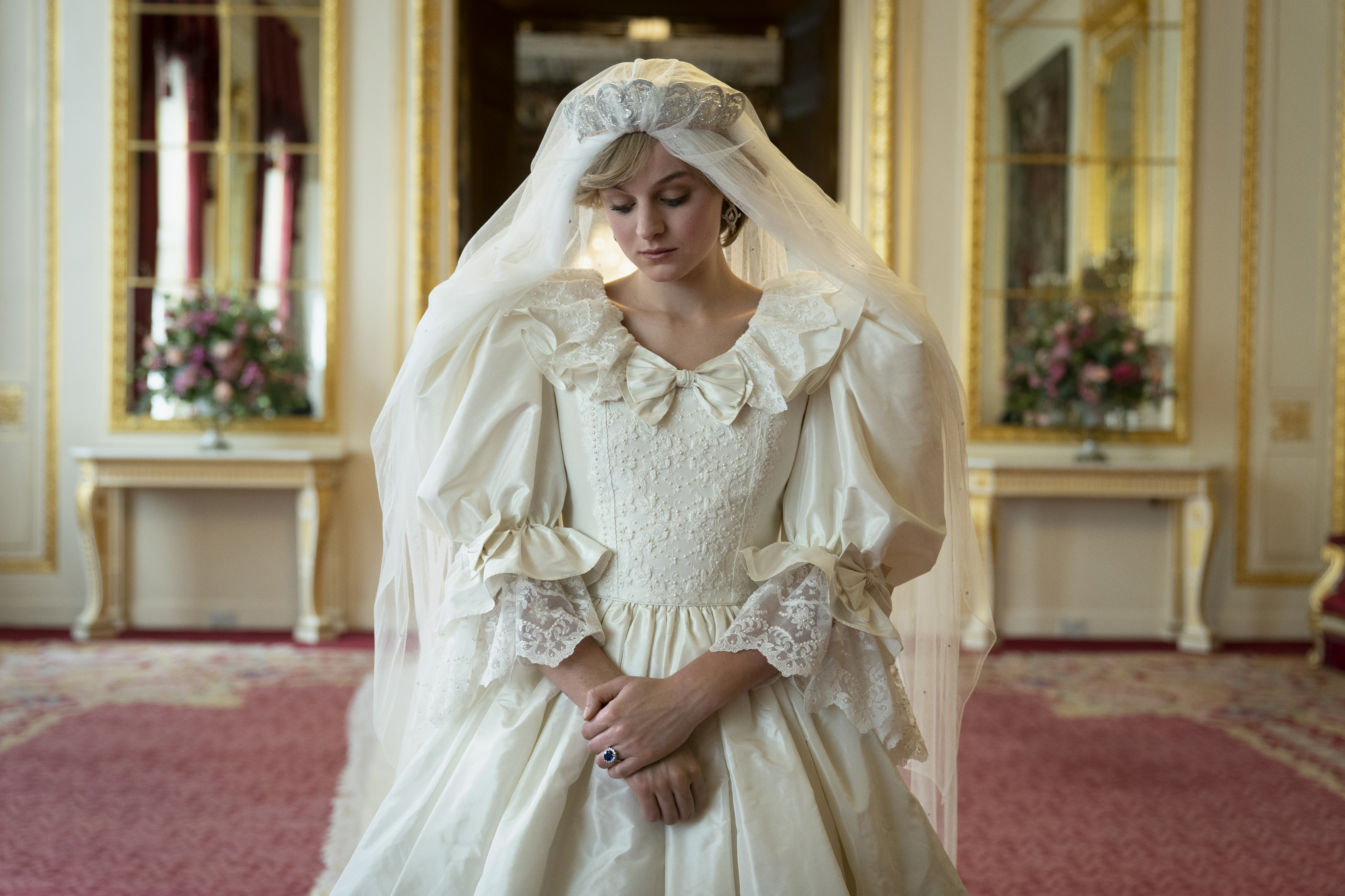 Diana Princess of Wales, played by Emma Corrin, in season 4 of 'The Crown.'
