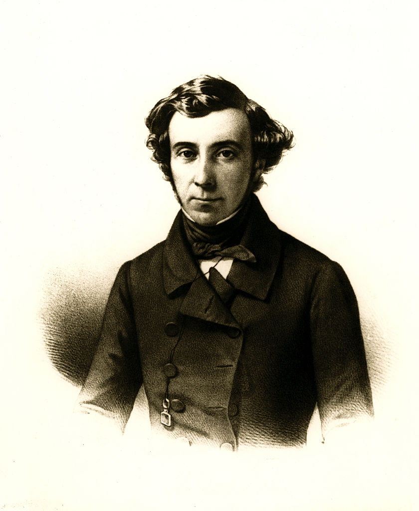 Alexis de Tocqueville (1805-1859), French political writer and historian. Ca. 1850.