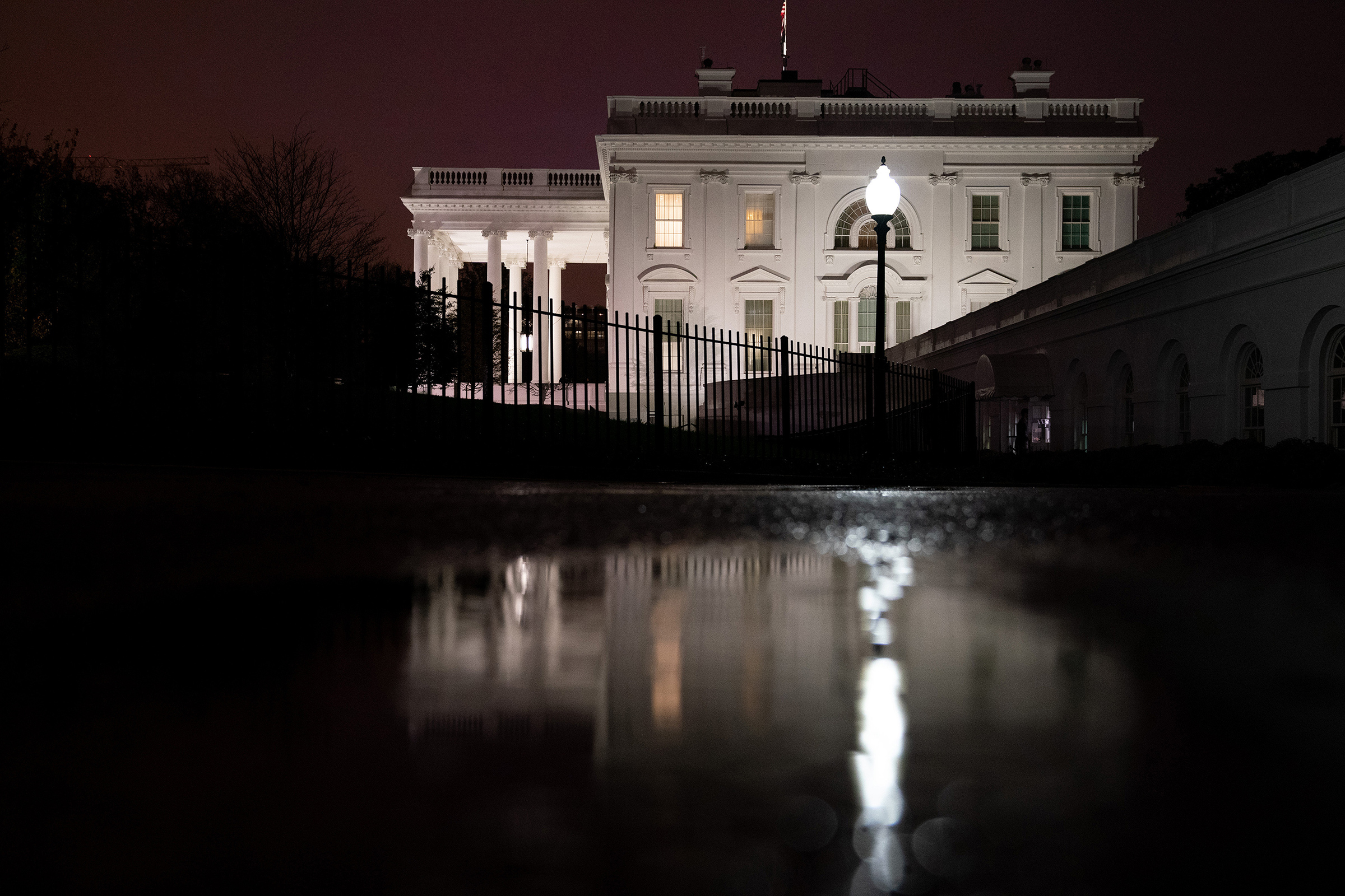 Outside the White House on Nov. 11