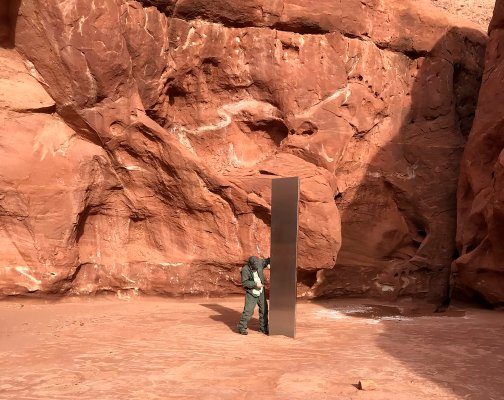 Unexplained Metal Monolith Discovered in Utah Wilderness | Time