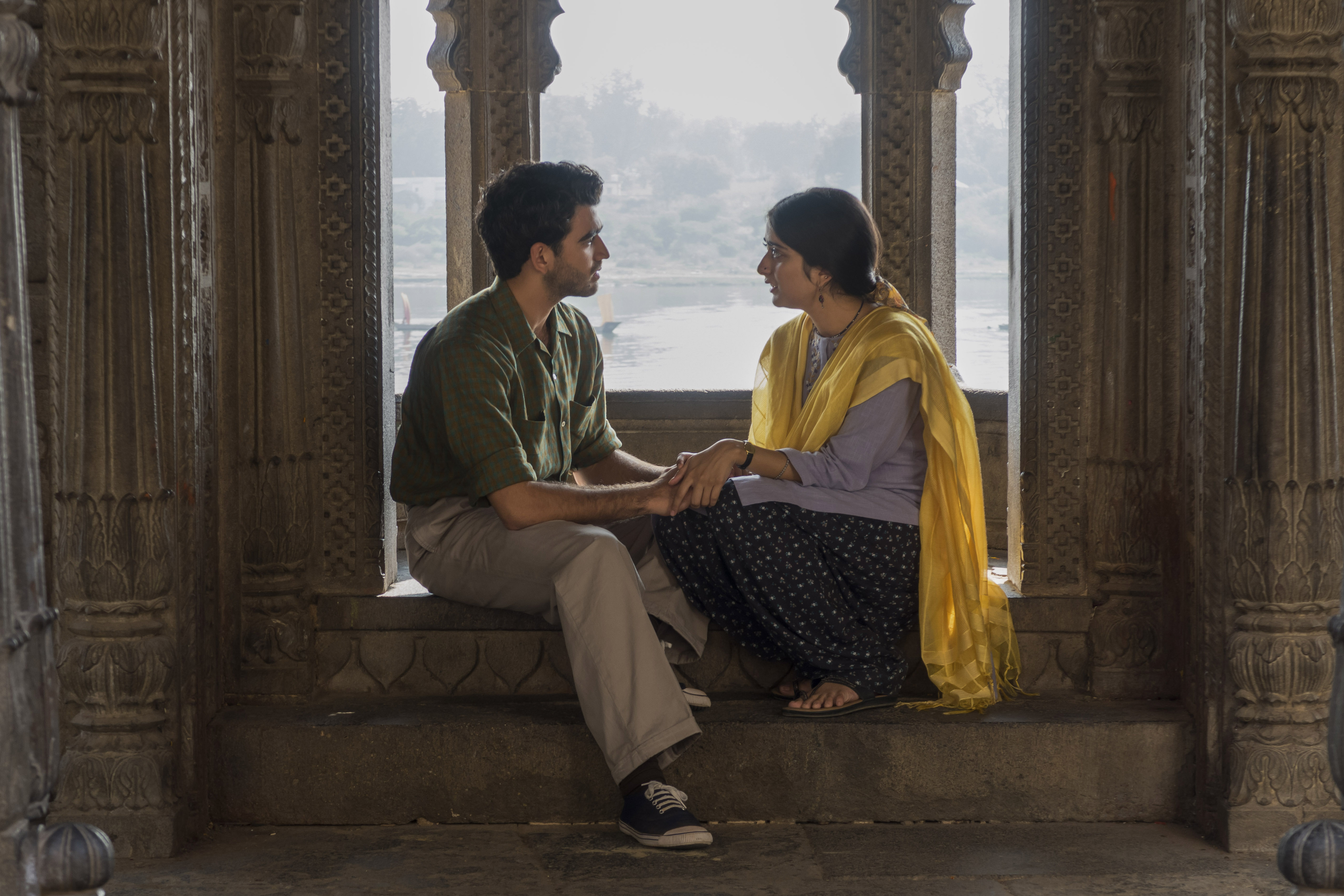 WARNING: Embargoed for publication until 00:00:01 on 28/07/2020 - Programme Name: A Suitable Boy - TX: 02/08/2020 - Episode: n/a (No. 2) - Picture Shows:  Kabir Durrani (DANESH RAZVI), Lata Mehra (TANYA MANIKTALA) - (C) Lookout Point - Photographer: Milan Moudgill