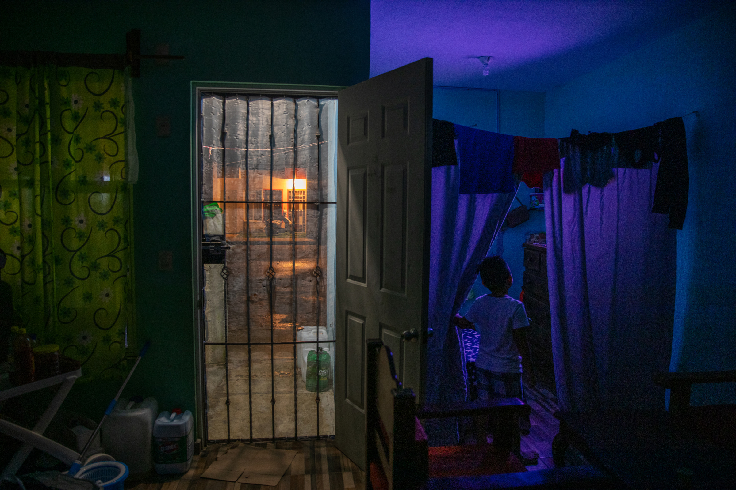 Inside a government housing development on the outskirts of Cancun on Nov. 17.