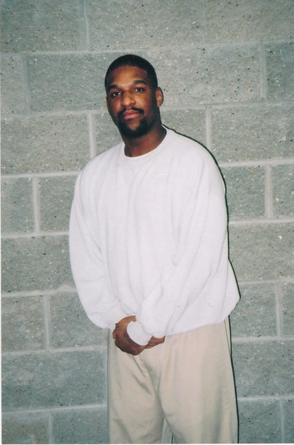 Corey Johnson, a federal prisoner on death row, at the federal penitentiary in Terre Haute, Ind.