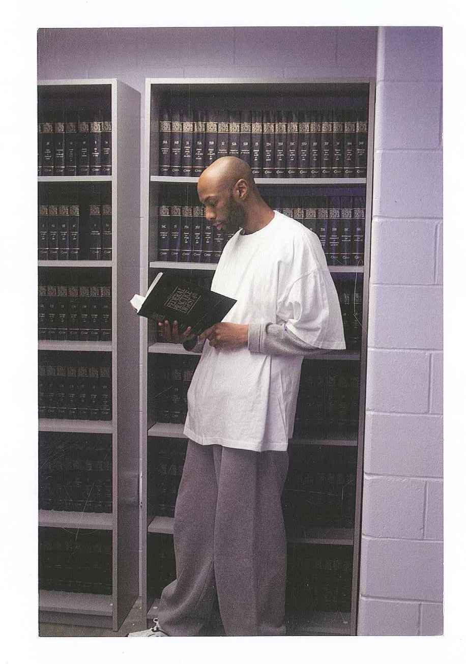 Dustin Higgs, who is scheduled to be executed on Jan. 15, 2020, is shown inside the federal prison in Terre Haute, Ind.