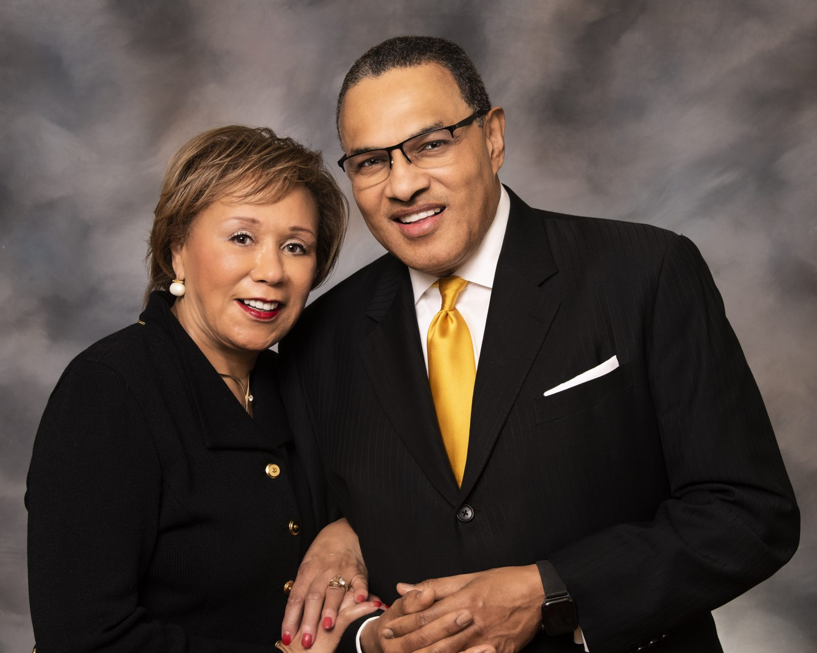 Jacqueline Hrabowski and Freeman A. Hrabowski III, who both volunteered for Phase 3 trials of Moderna's COIVID-19 vaccine.
