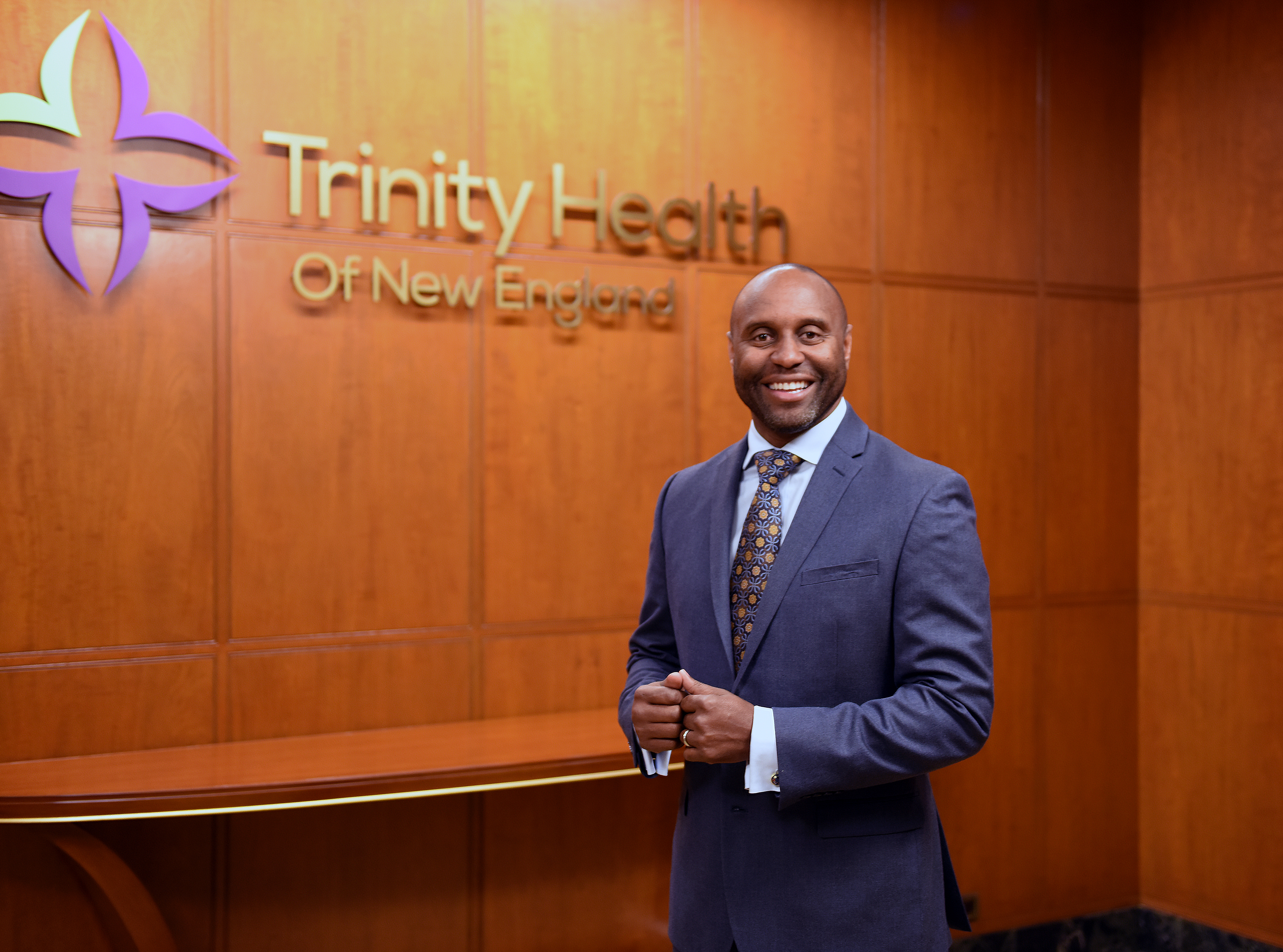 Dr. Reginald Eadie, president and CEO of Trinity Health of New England, who has been working to build trust in the new coronavirus vaccines among members of Black American communities.
