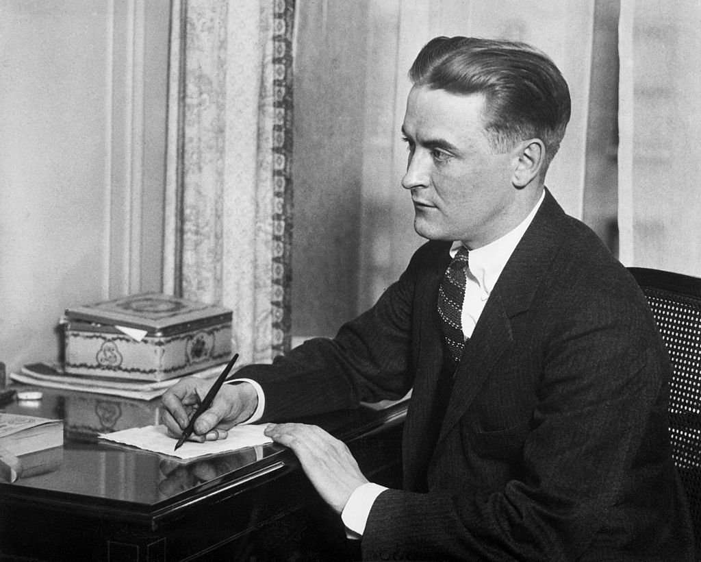 Portrait of F. Scott Fitzgerald, author of 'The Great Gatsby.'
