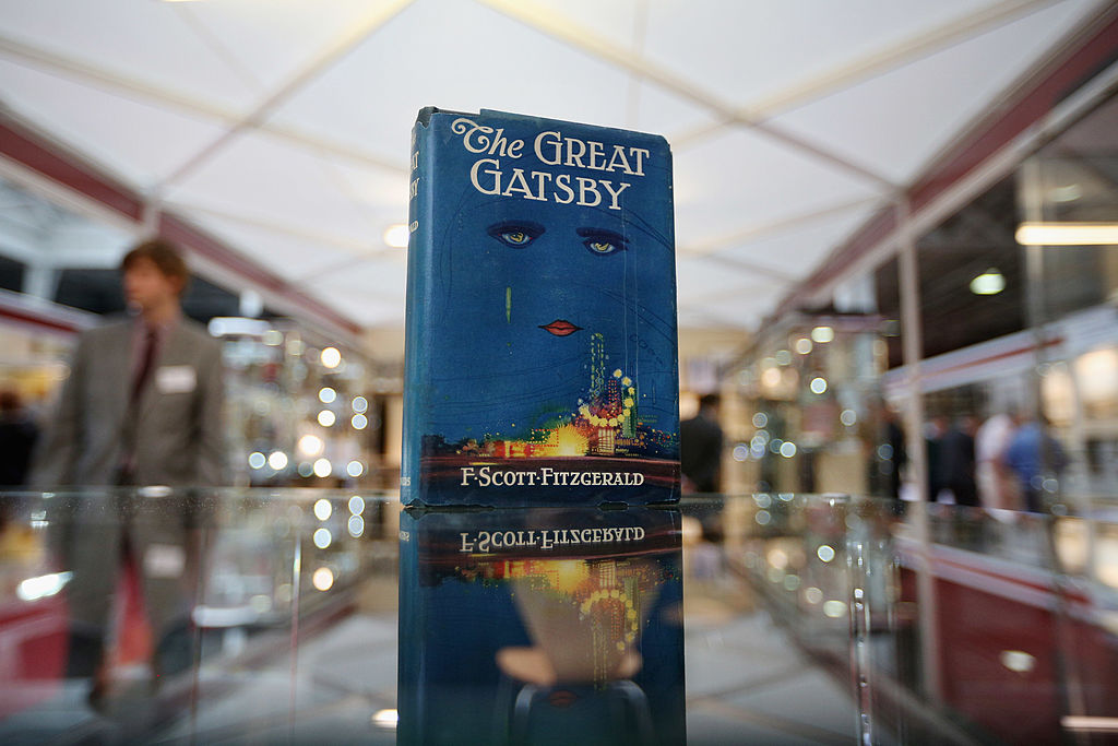 A first edition of F. Scott Fitzgerald's 'The Great Gatsby' at the London International Antiquarian Book Fair on June 13, 2013.
