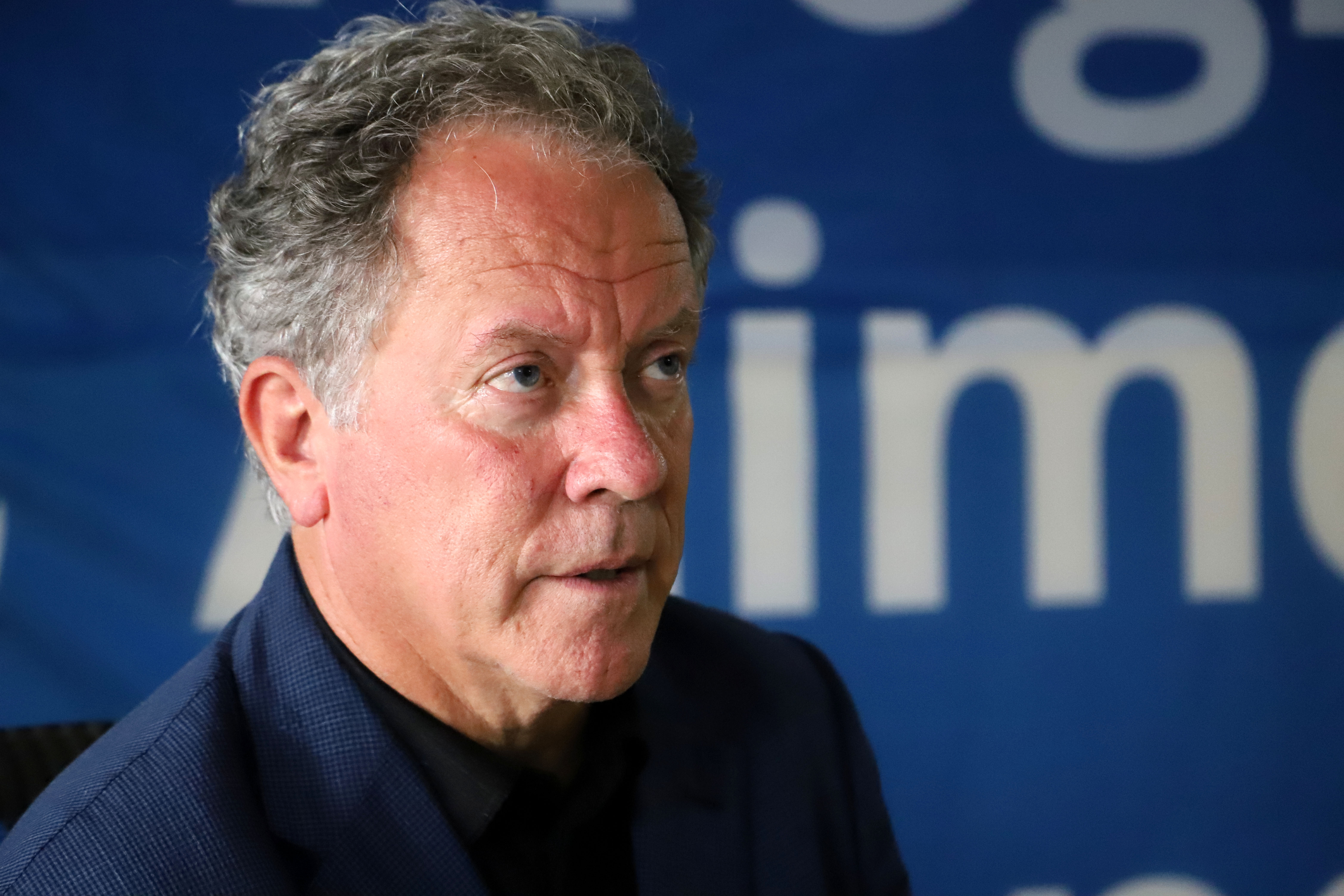 David Beasley, Executive Director of the World Food Programme (WFP), is seen at the WFP headquarters in Niamey on October 9, 2020.
