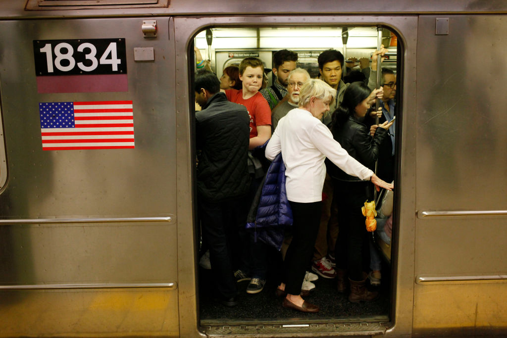 This time last year, subway systems across the country often looked like this train in New York City. But the pandemic has dramatically reduced ridership, and transit systems are facing budget crises as a result.