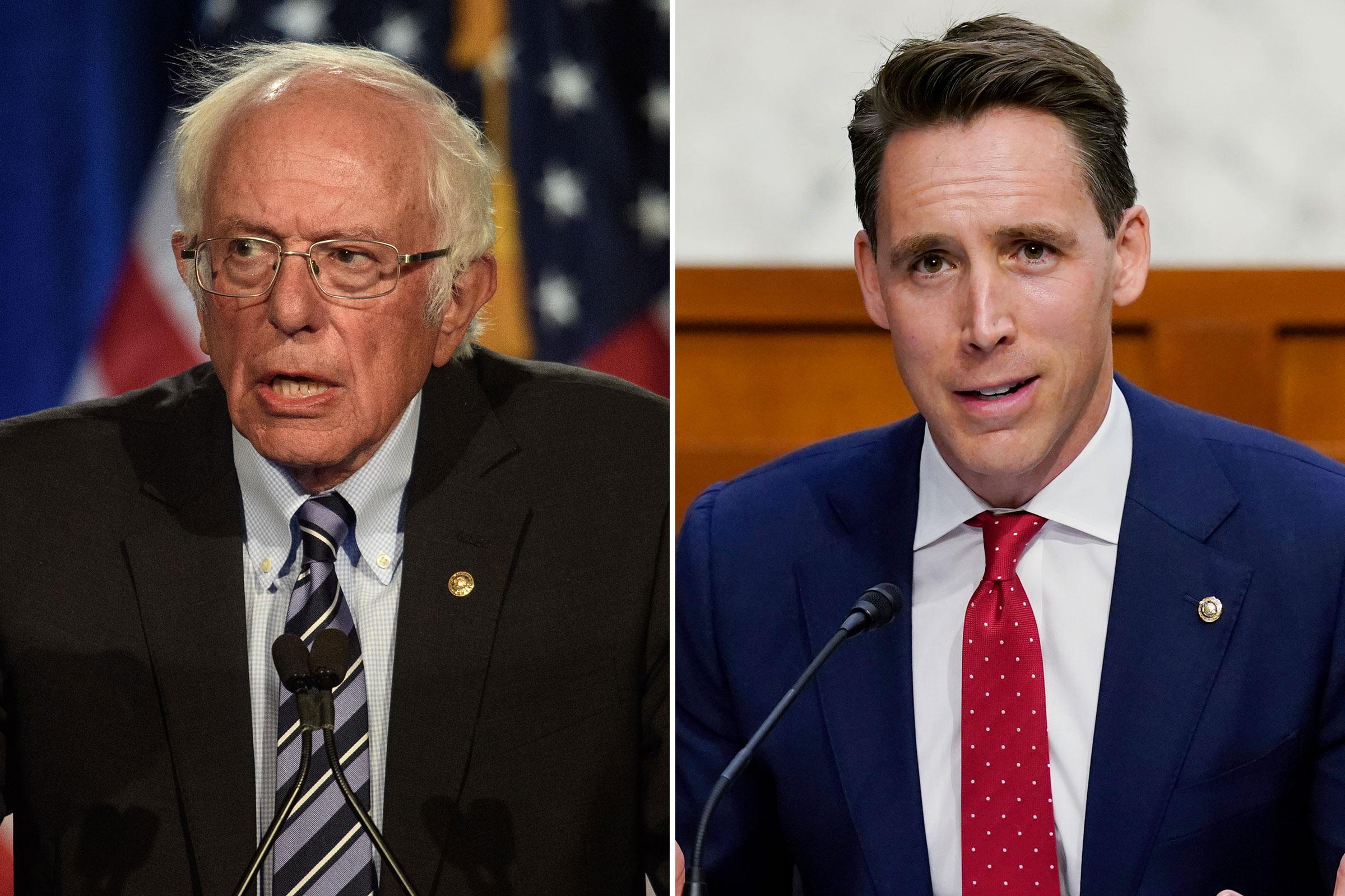 Sen. Bernie Sanders; Sen. Josh Hawley