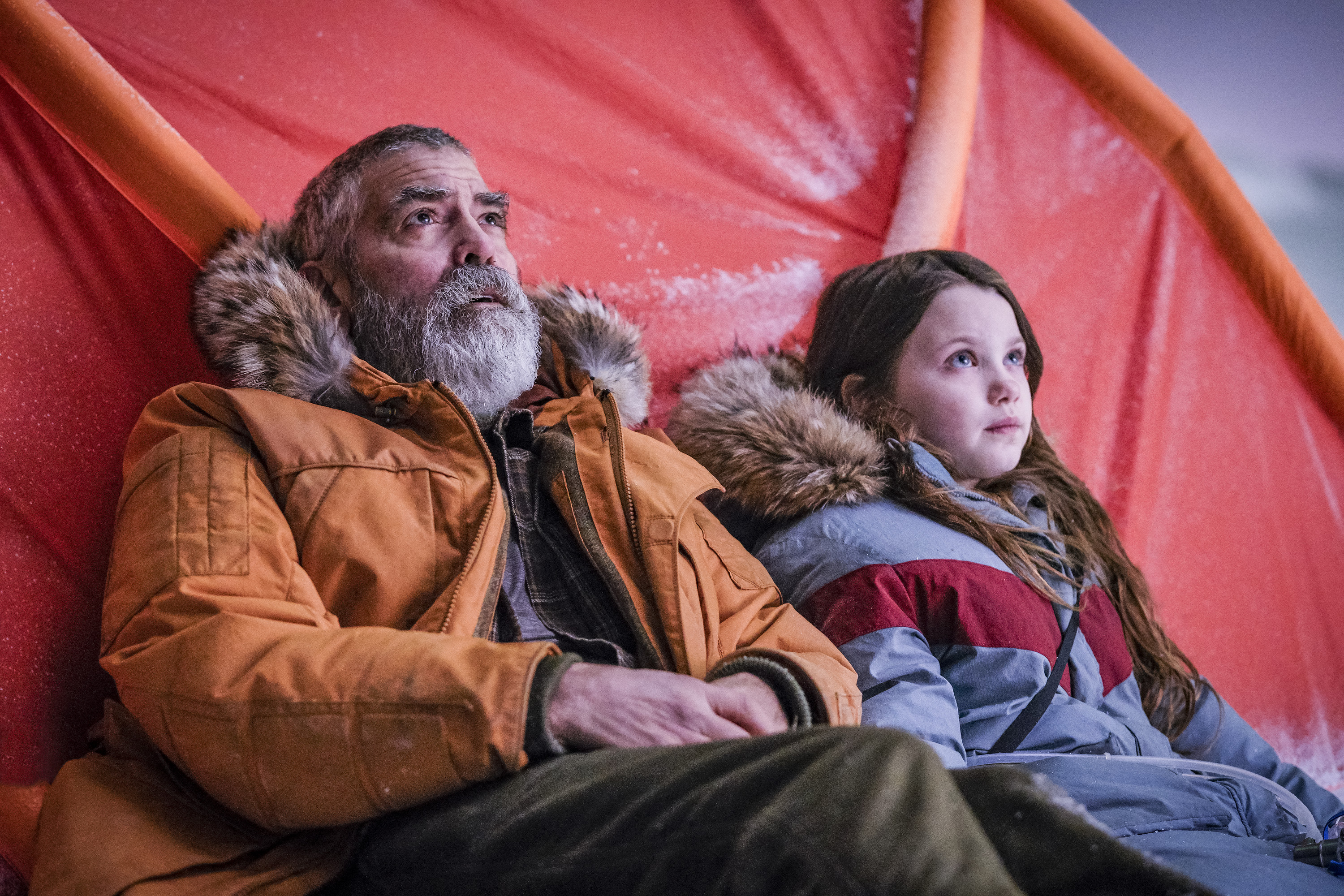 George Clooney and Caoilinn Springall on a perilous journey at the end of the world