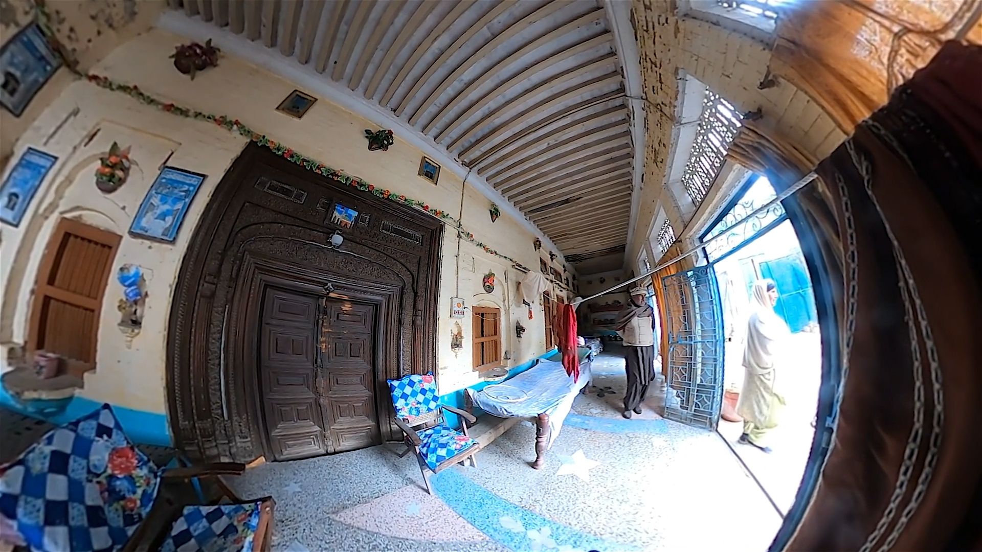 This image from the virtual reality tour of Dharukna—in what is now Pakistan's Punjab province—shows a home near where Hari Krishan Lal Anand grew up.