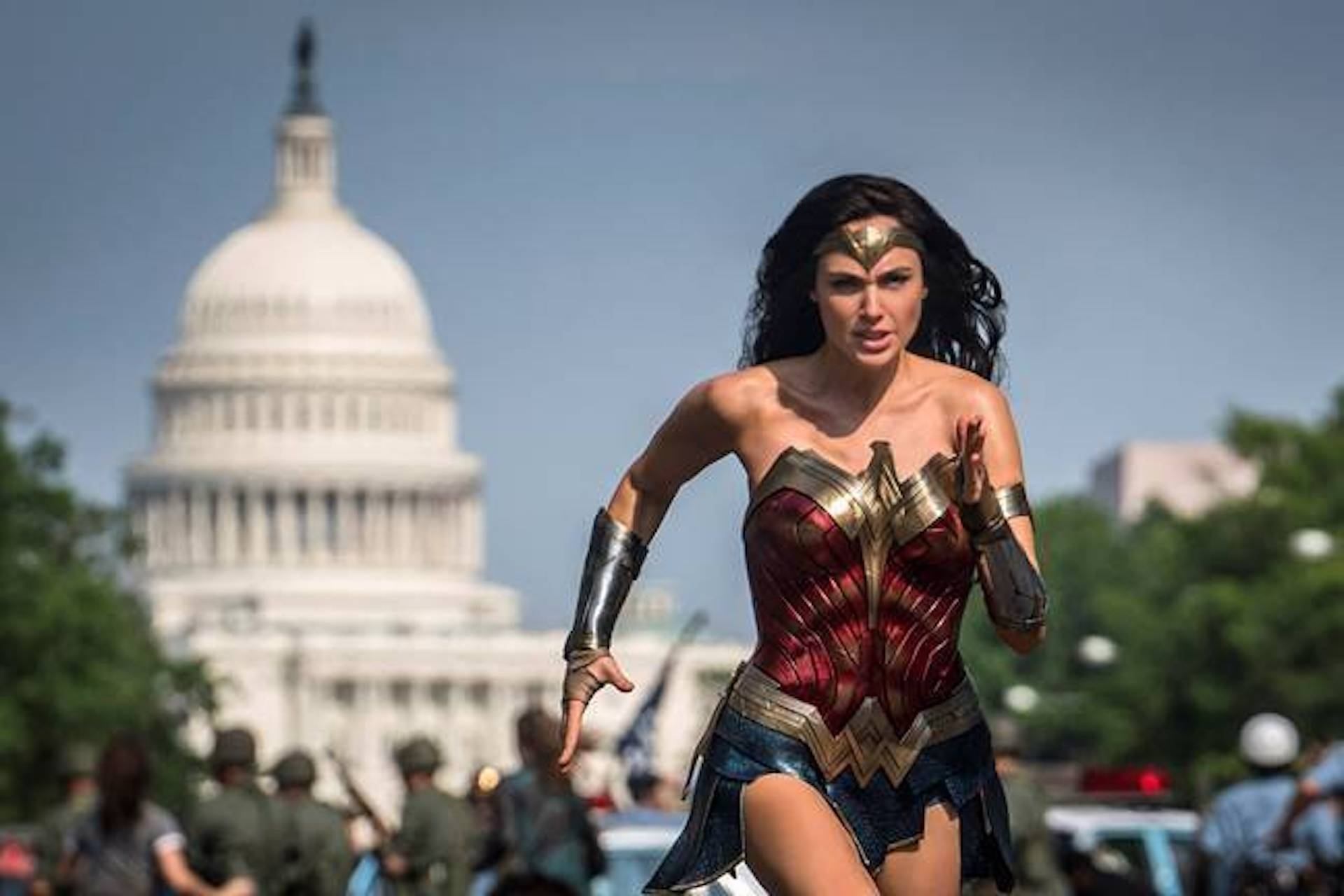 Gal Gadot in 'Wonder Woman 1984,' the first of Warner Bros. blockbusters that will simultaneously debut in theaters and on HBO Max
