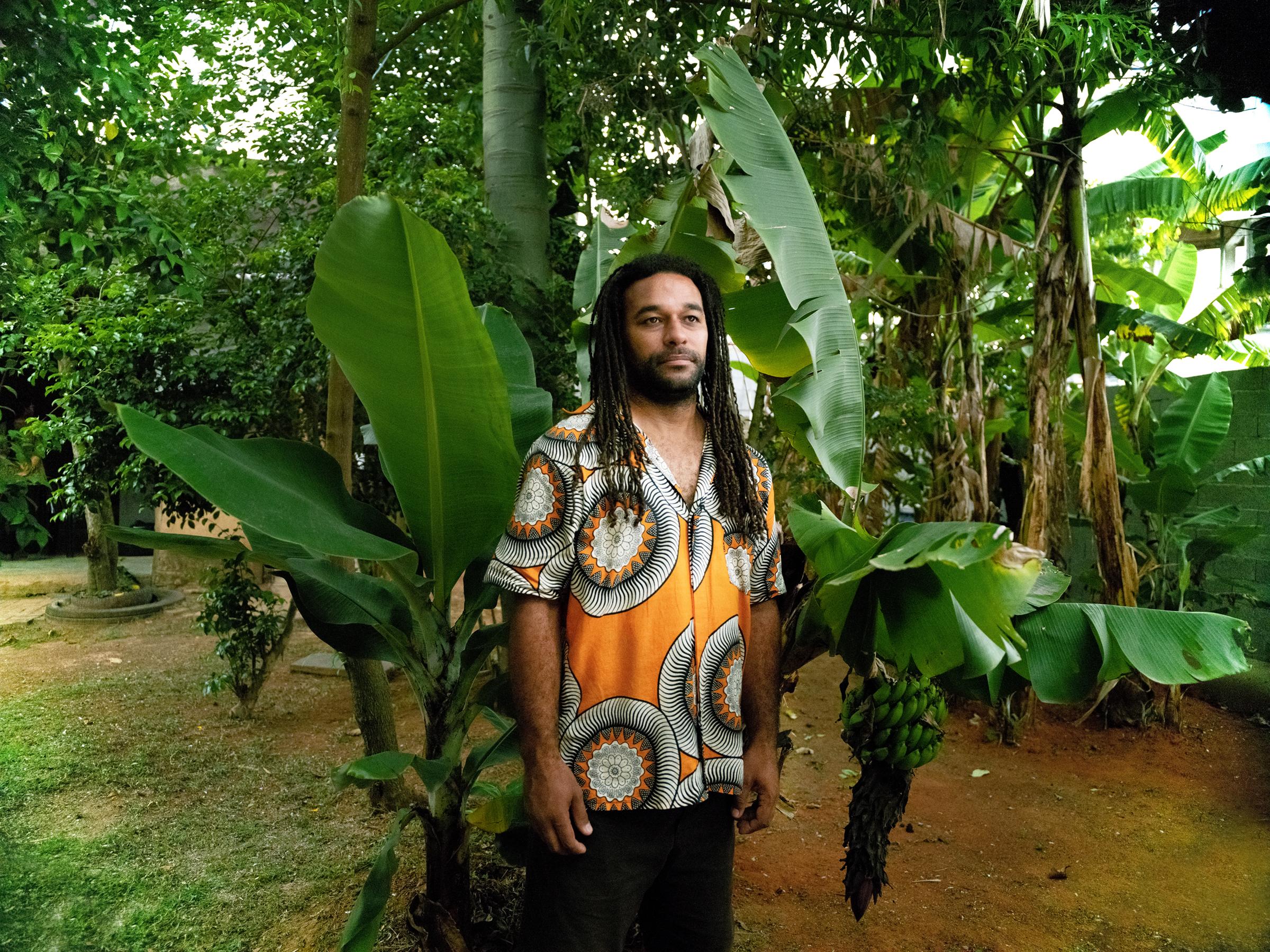 Clébio Ferreira, 36, founder of Quilombaque in the Perus neighborhood of São Paulo on Dec. 5, 2020.