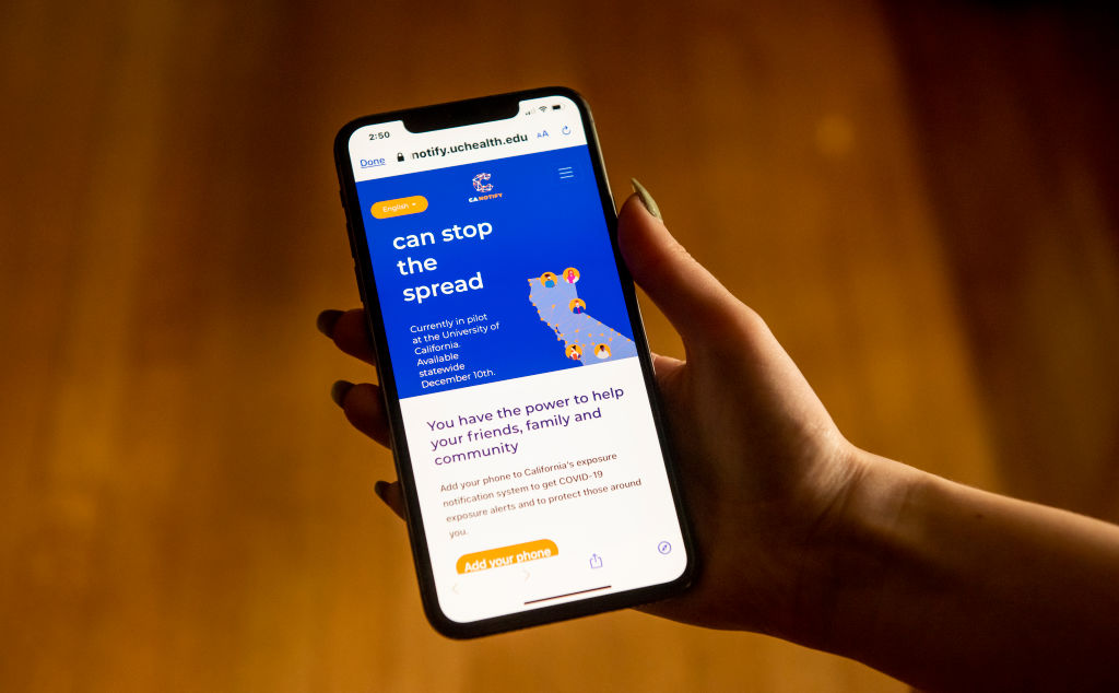 Notify CA app will send notifications to a user's cell phone alerting them if they have been in close proximity to someone who has tested positive for coronavirus.