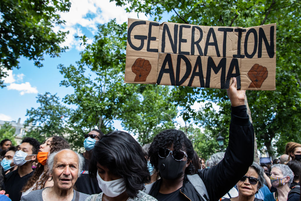 Around 20.000 people demonstrating in Paris, France, on June 13, 2020 after a national appeal launched by the collective ''Verite pour Adama'' against racism and police violence.