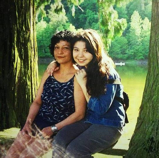 Terese Marie Mailhot, pictured at 16 with her late mother Wahzinak Joyce Bobb