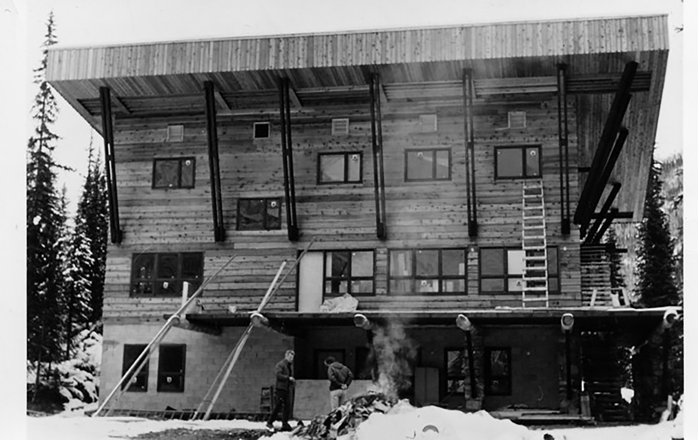 The original heliskiing lodge in the Bugaboos