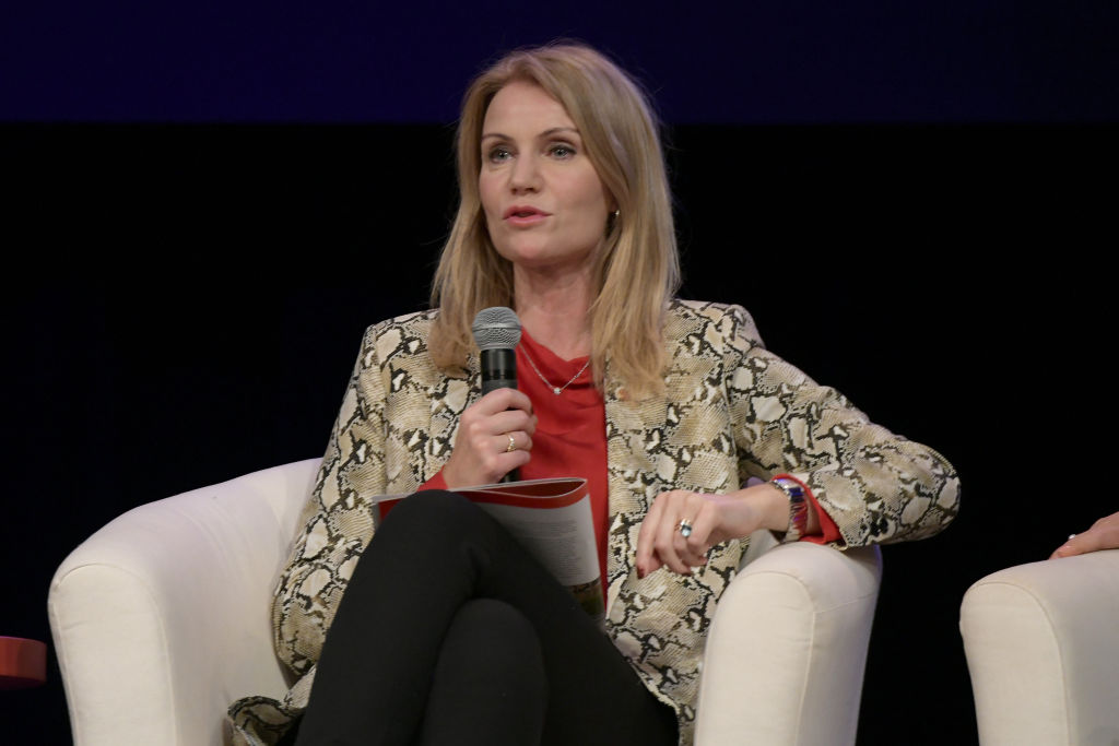 Former Prime Minister of Denmark Helle Thorning-Schmidt speaks at the first-ever #SheIsEqual Summit on September 28, 2018 in New York City.