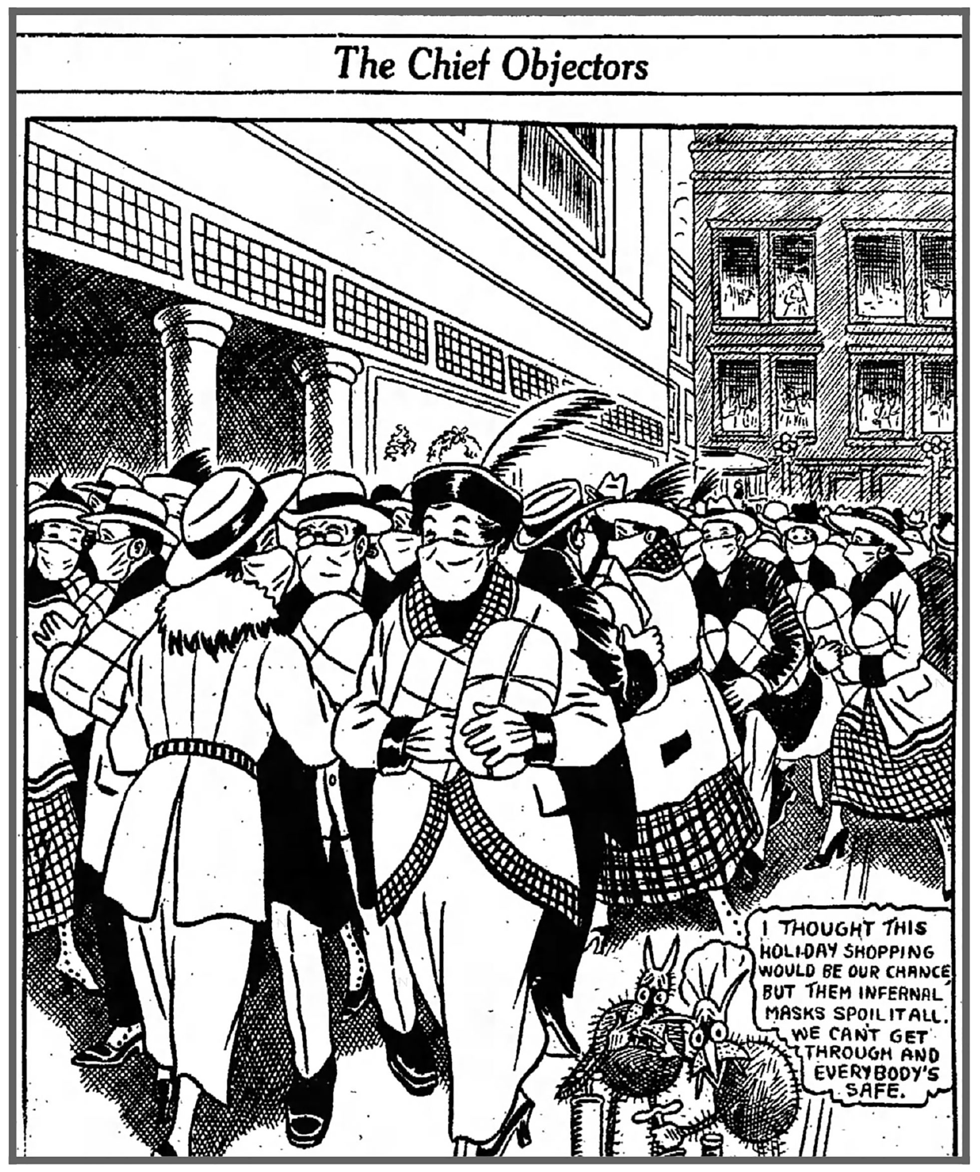 A cartoon from a Dec. 6, 1918, issue of the Fort Wayne Sentinel.