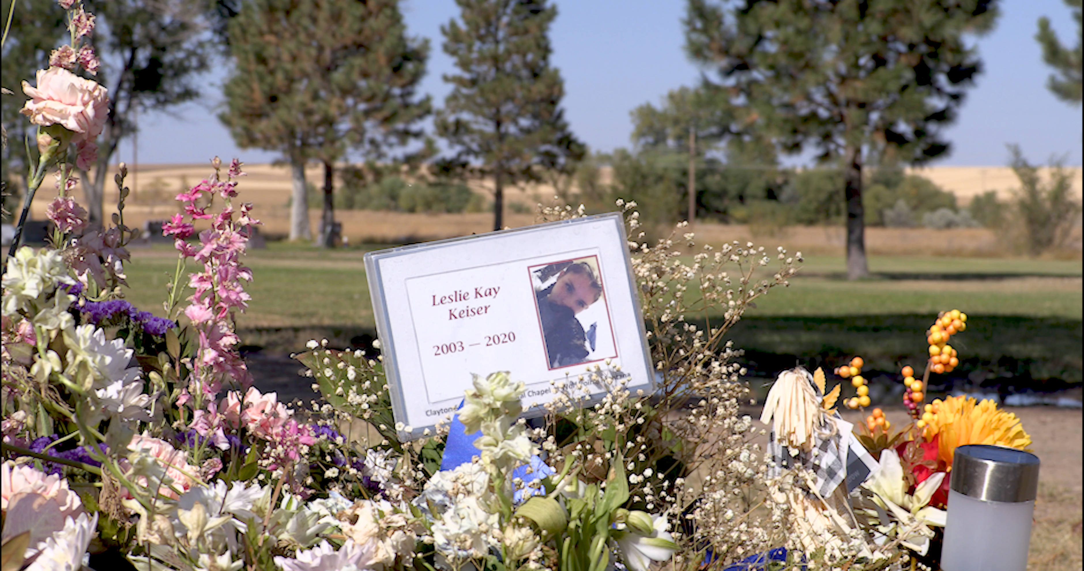 Leslie Keiser's grave is at the edge of Wolf Point, a small community on the Fort Peck Indian Reservation in Montana. Leslie is one of at least two teenagers on the reservation who reportedly died by suicide this summer.