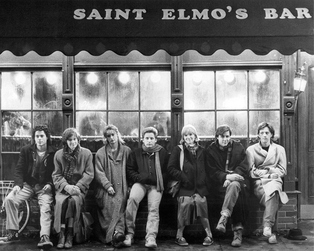 The cast of 'St. Elmo's Fire', directed by Joel Schumacher, 1985.